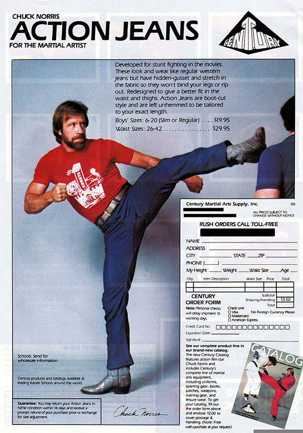 Chuck Norris Action Jeans in Aktion