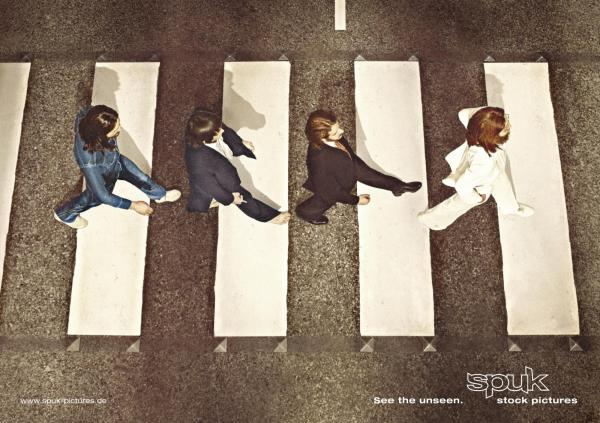 Beatles Abbey Road from Above