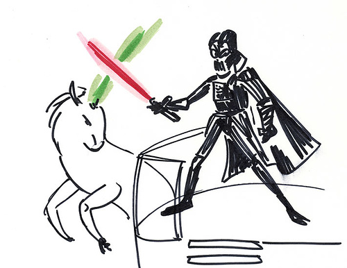darth vader vs. unicorn