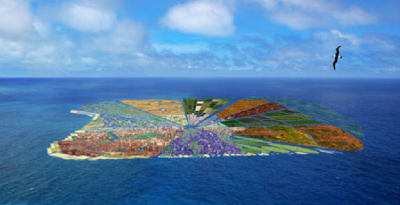 recycled island
