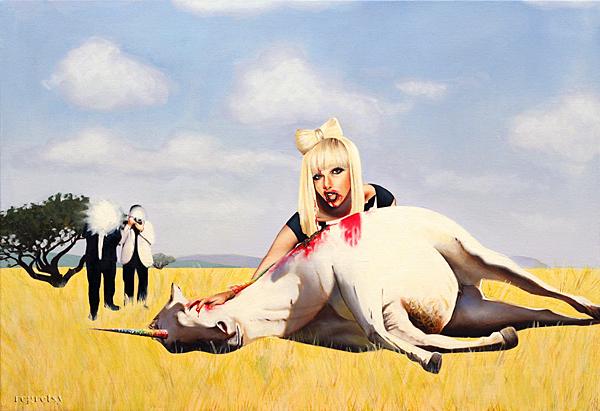 Lady Gaga und der Einhorn Kadaver