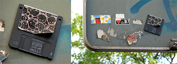 disketten streetart by barto