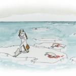 Einhorn kloppt Robben