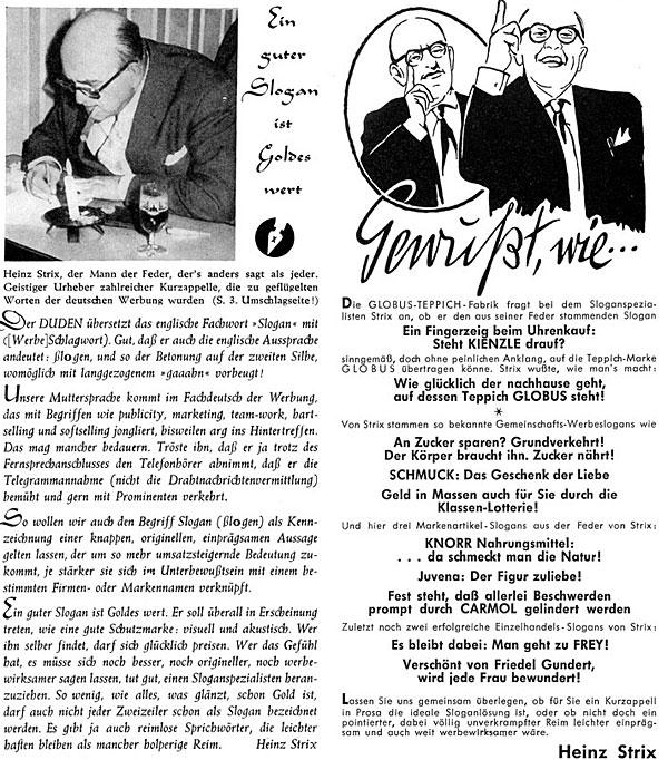 """Heinz Strix """"Der Mann mit der Feder, der's anders sagt als jeder"""""""
