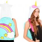 unicorn backpack hoodie