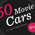 50 Movie Cars by Juan Pablo Bravo
