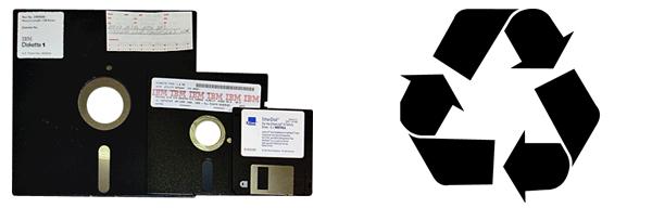 disketten recycling