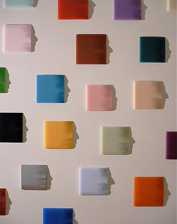 origami faces by Kumi Yamashita