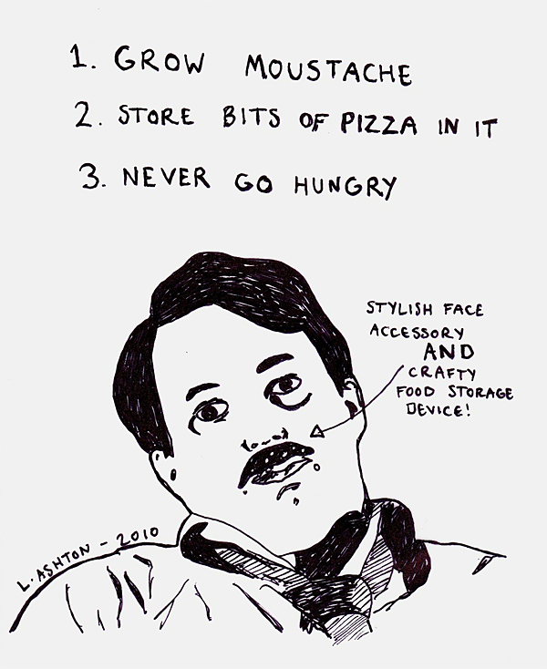 David Mitchell with Pizza