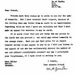 Gandhi schreibt Hitler
