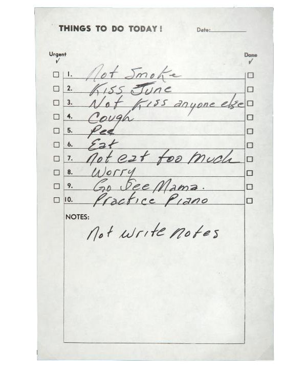 Johnny Cashs ToDo List