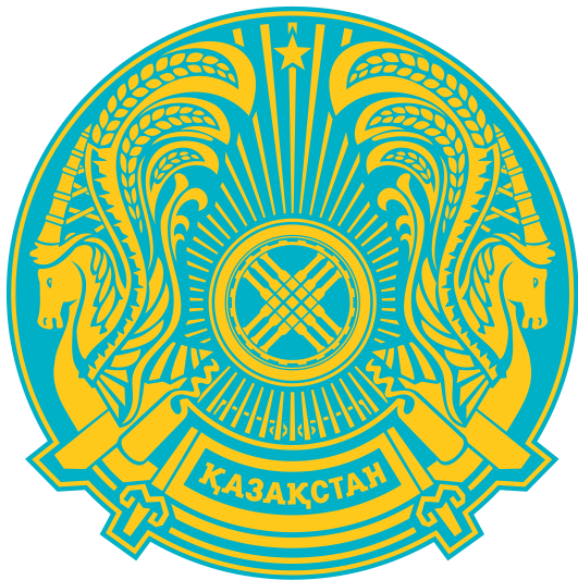 Wappen Kasachstan Einhörner