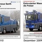 Wasserwerfer im Wandel der Zeit / Bild