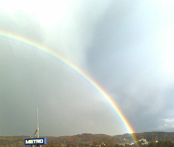 Regenbogen in Düsseldorf