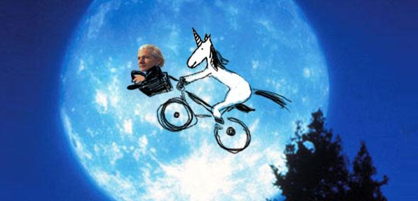 Einhorn und Julian Assange