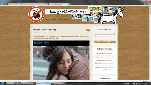 Das Einhorn bei Langweiledich.net