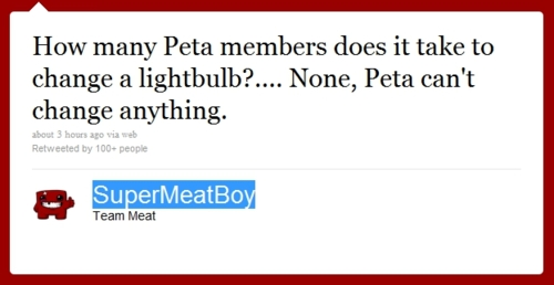 Super Meat Boy vs. Peta