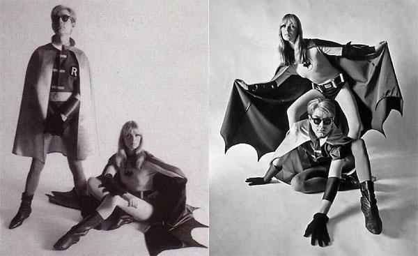 Andy Warhol und Nico als Batman und Robin