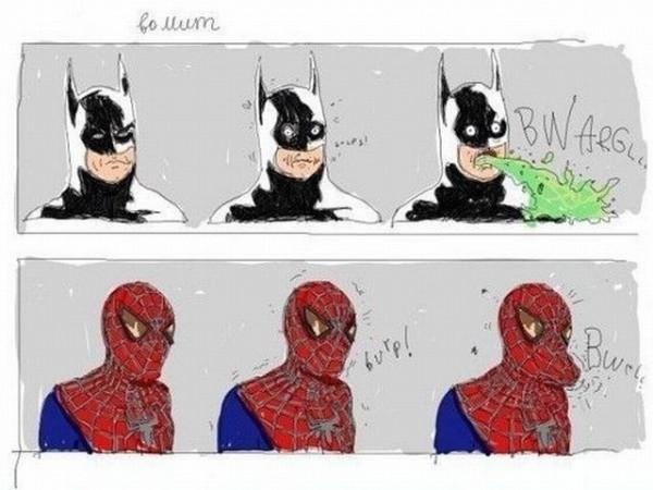 Kotzende Superhelden