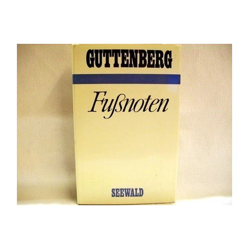 Fußnoten von Guttenberg