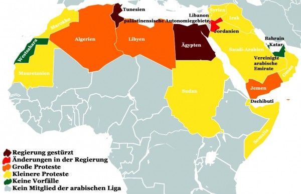 Proteste in arabischen Ländern