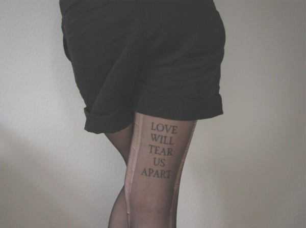 Love will tear us apart Tights