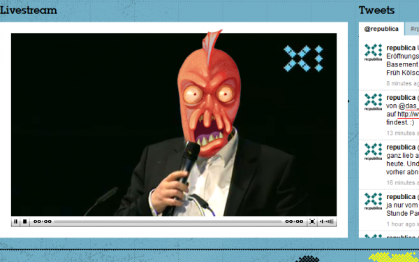 Sascha Lobo auf der re:publica 2011