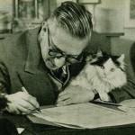Sartre mit Katze