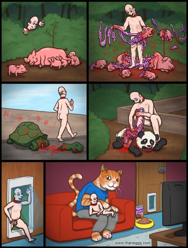 Wenn Menschen Katzen wären