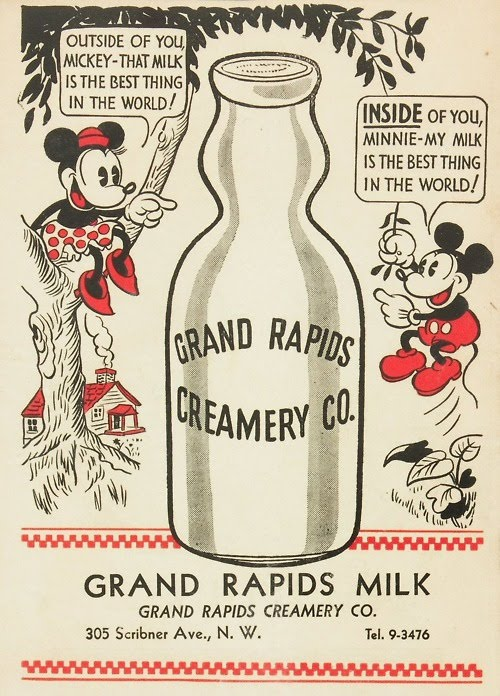 Mickey wants his Milk inside of Minnie