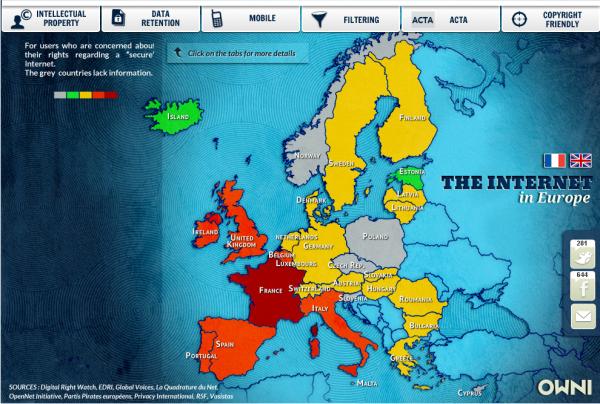 Die Netzpolitik in Europa