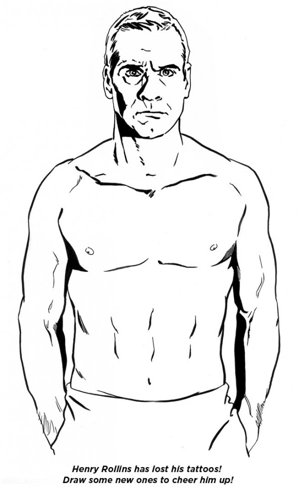 Henry Rollins Tattoos