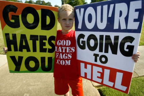 Kids at Hate Rallies