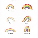 Rainbow Types von Marc Johns