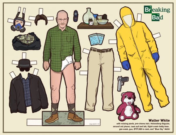 Walter White aus Breaking Bad als Papierpuppe