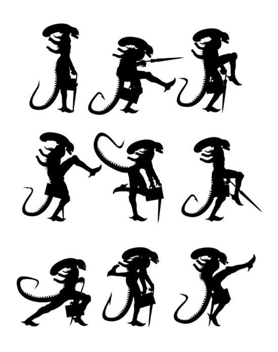 Alien silly walks