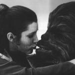 Leia küsst Chewie