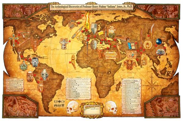 Indiana Jones Map
