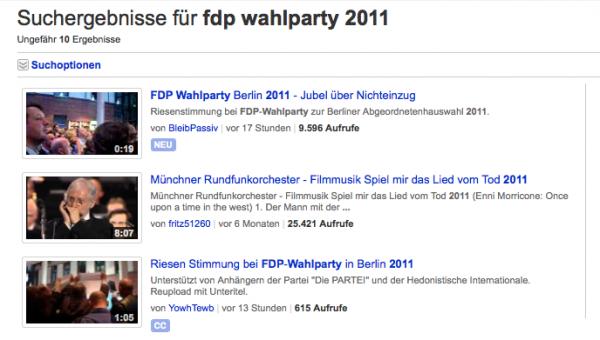 FDP Wahlparty 2011