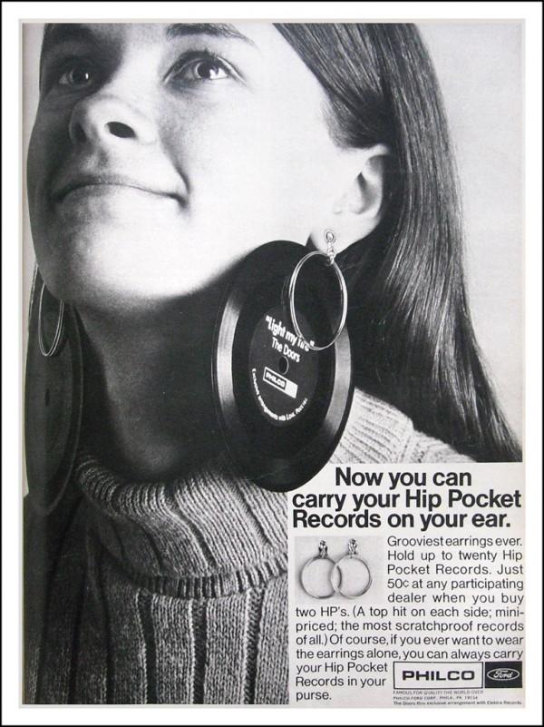 Hip Pocket Records Ohrringe