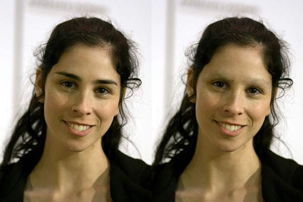 Sarah Silverman without Eyebrows