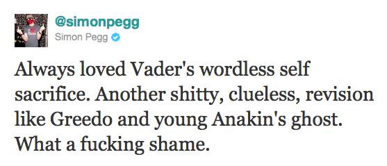 Simon Pegg über Darth Vader