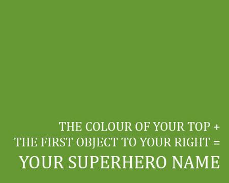 Dein Superhelden Name
