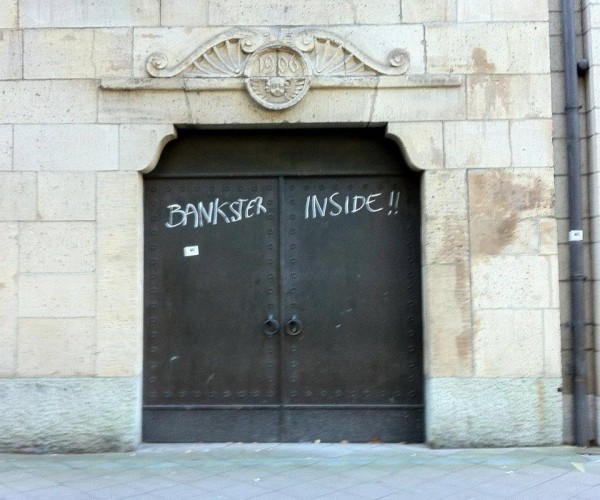 Bankster Inside!! - Occupy Düsseldorf