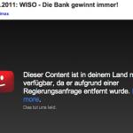 Regierung zensiert YouTube