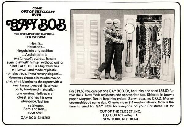 Anzeige für Gay Bob