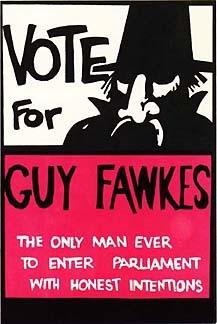 Guy Fawkes Plakat aus den 50er Jahren