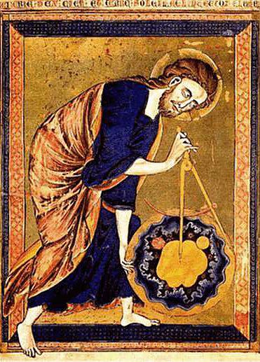 Gott mit Zirkel aber ohne Titel