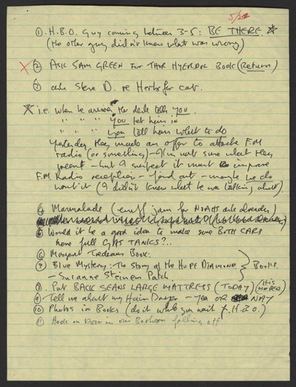 John Lennons To Do List