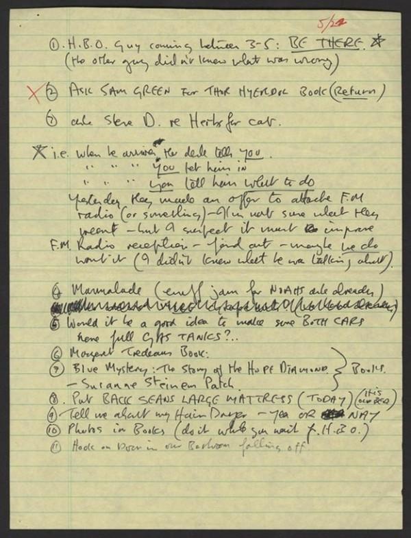 John Lennons To Do List